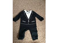 0-3 months boys M&S romper