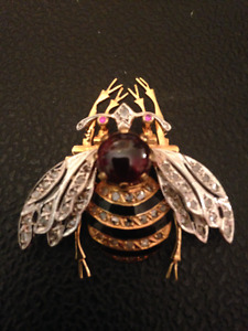 Antique Convertible Brooch, Bee Form