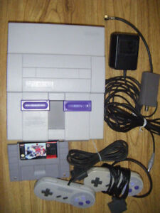 Super Nintendo System with Game for sale. Truro.
