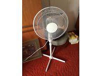 White Standing Fan