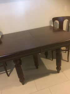 Antique Dining Room Table and Chairs - professionally refinished
