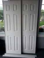 White colonial sliding door for sale