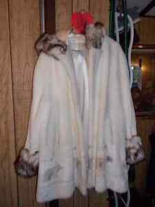White Fur Coat for Sale