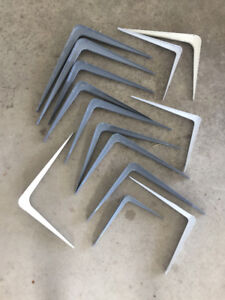 BRACKETS FOR SHELVING AND SHEVING MATERIAL