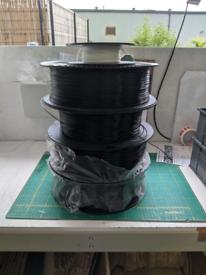 Black PLA filament for 3D printer
