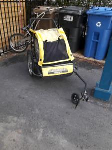 Remorque poussette à velo valeur neuf 325$ bike carrier shuttle