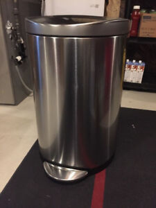 Simplehuman Brushed Stainless Steel Garbage Recycling Can