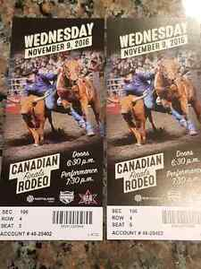 2 CFR rodeo tickets for sale Wednesday at 7:30 pm Strathcona County Edmonton Area image 1