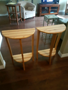 2 side tables. (New)