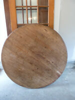 Solid mahogany round coffee table