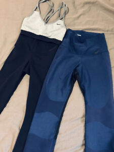 NIKE SPORTS BRA (size S) & 2 TIGHTS FOR SALE (size XS)