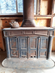 Antique Franklin Wood Stove-Olympic