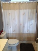 Rideau de douche en lin