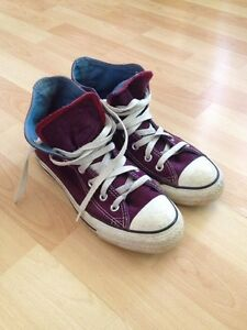 Custom dyed converse shoes