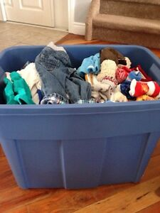 Huge bin of 3-6 month baby boy clothes