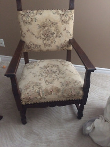 Antique Tall Back Chair