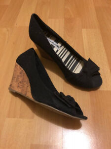 Lightly Used Black Heeled Shoes