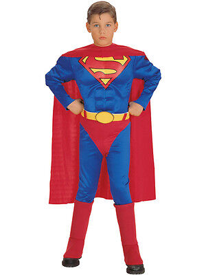 uperman Party Outfit Fancy Dress Costume Superhero Boys BN (Superman Muscle)