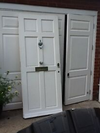 Solid wood front door with quality door furniture