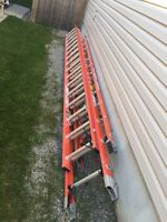 32 ft and 24 ft fibre glass extensions ladders