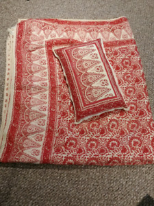 Pottery Barn queen size quilt and pillow