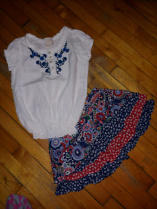 Girls Top & Skirt Sz 4