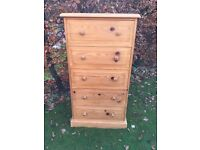 Quality waxed pine chest of drawers
