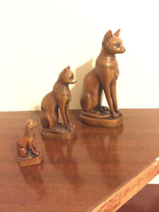 Decorative Set of Ancient Egyptian Sphinx Cats