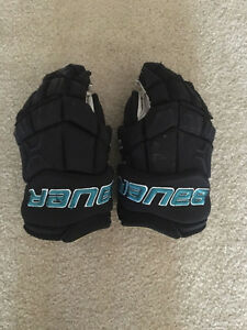 PRO STOCK NHL BAUER MX3 HOCKEY GLOVES - 14' - USED