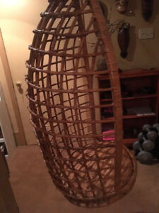 Hanging ratan woven chair from italy