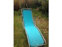 Blue recliner sun bed