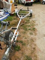 EZ load boat trailer & 25 hp mercury motor