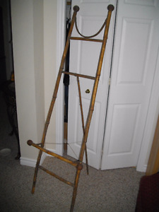 ANTIQUE 19 TH C. CHINESE DECORATED BAMBOO ART EASEL