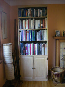 Tall bookcase, solid wood