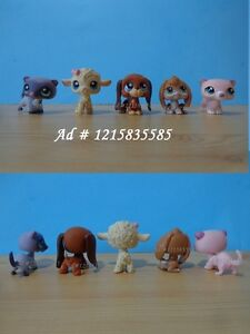 Littlest Pet Shop LPS Lamb. Puppy Dog, Ferret, Basset Hound