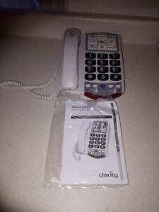 NEW CLARITY loud volume big button phone
