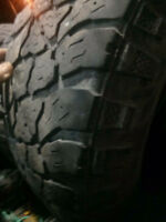 FOUR. LT 265/70/17 SAFARI TIRES WITH SIDEGRIPS. HALF THREAD $125