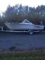 PRINCECRAFT 16.5 Aluminum With MOTOR and TRAiLER