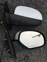 "Mirrors bug deflector and 6""4 chrome box rails 2008 Sierra 1500"