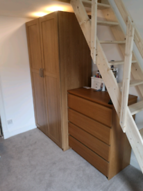 Wardrobe, Chest of Drawers and Bedside cabinet. IKEA Pax & Malm.