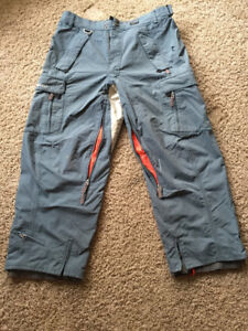 Volcom Snowbaord / Ski Pants - Grey/Blue - Size XL