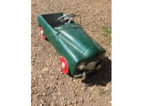 Vintage collectable pedal car