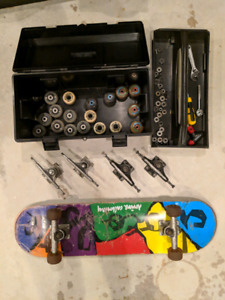 Skateboard and a bunch of hardware