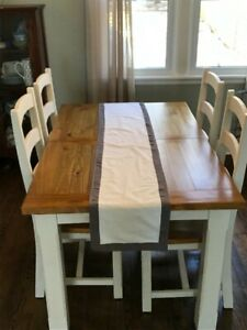 Dining set - table, chairs and bench