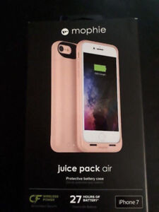 ROSE GOLD IPHONE 7 / 8 MOPHIE JUICE PACK AIR BATTERY CASE NEW !!