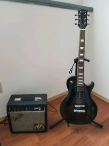 Barracuda electric guitar with amp