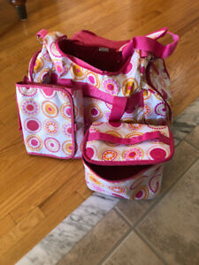 Girl's Travel Duffle Bag with Makeup Bag and Hanging Organizer