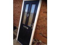 Composite door blue wood grain. Bargain