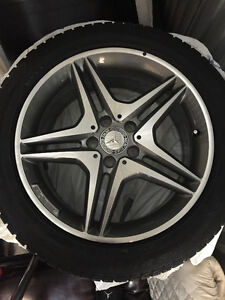BRAND NEW 2015 4  MERCEDES AMG WINTER TIRES PERELLI RUBBERS