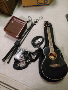 Buskers/Musos starter kit (3/4 narrow neck guitar)